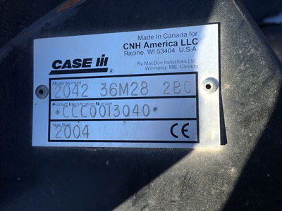 Detail photo of 2004 Case IH 2042-36 from Construction Equipment Guide
