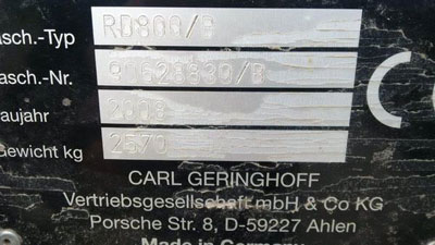 Detail photo of 2008 Geringhoff RD800/B from Construction Equipment Guide
