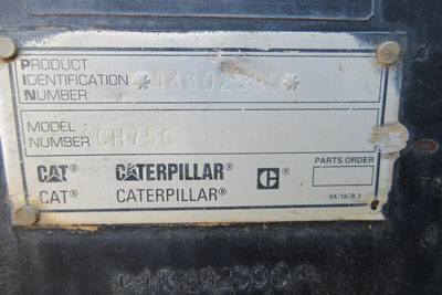Detail photo of 1996 Caterpillar CH75 from Construction Equipment Guide