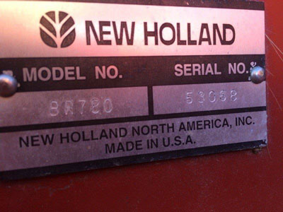 Detail photo of 2004 New Holland BR780 from Construction Equipment Guide