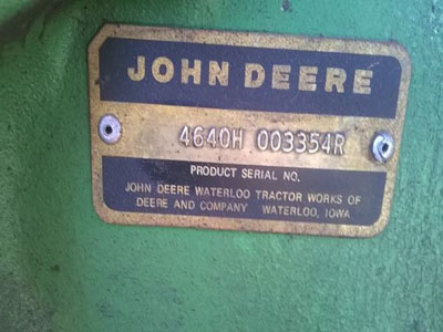 Detail photo of 1978 John Deere 4640 from Construction Equipment Guide