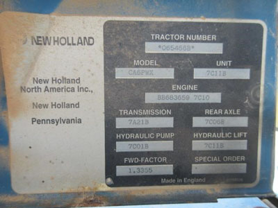 Detail photo of 1997 Ford 3930 from Construction Equipment Guide